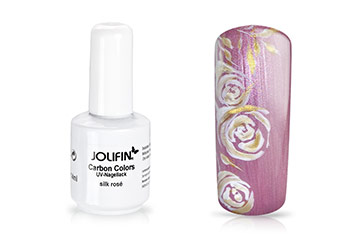 Jolifin Carbon Colors UV-Nagellack silk rosé 11ml