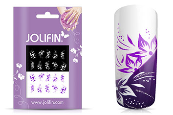 Jolifin Nailart Tattoos purple and white Nr. 4