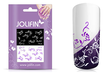 Jolifin Nailart Tattoos purple and white Nr. 5