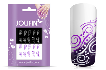 Jolifin Nailart Tattoos purple and white Nr. 9