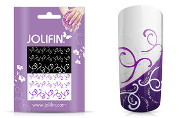 Jolifin Nailart Tattoos purple and white Nr. 10