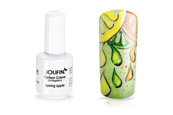 Jolifin Carbon Colors UV-Nagellack spring apple 14ml