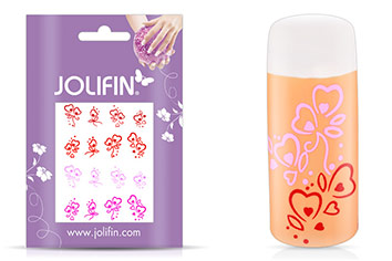 Jolifin Jolly Nailart Tattoo 14 pink