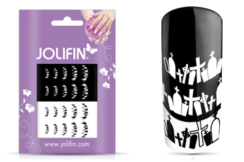 Jolifin Scary Nailart Halloween Tattoo 1