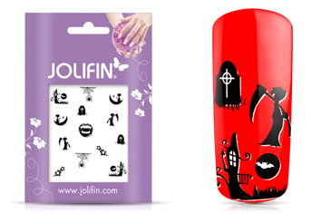 Jolifin Scary Nailart Halloween Tattoo 4