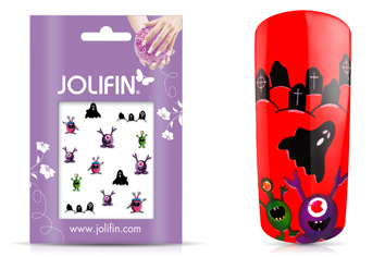 Jolifin Scary Nailart Halloween Tattoo 10