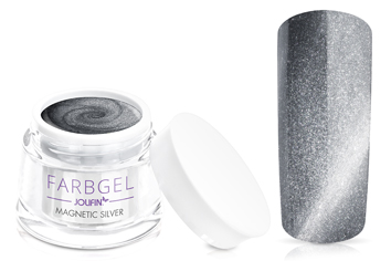 Jolifin Farbgel 4plus magnetic silver 5ml