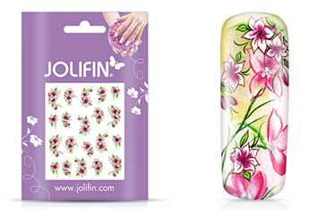 Jolifin intensive Nailart Sticker Folie 3