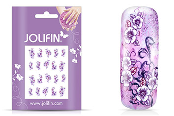 Jolifin intensive Nailart Sticker Folie 5