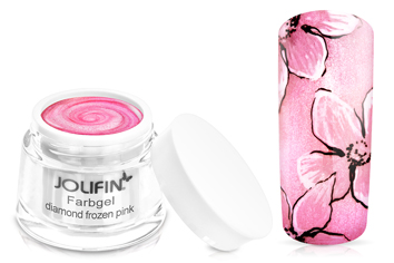 Jolifin Farbgel 4plus diamond frozen pink 5ml