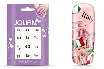 Jolifin Fussball Nailart Tattoo 8