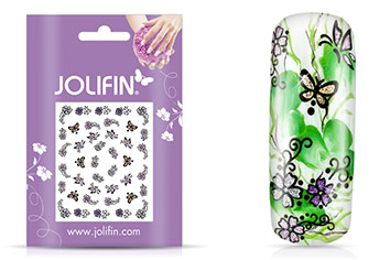Jolifin Girlie Glitter Nailart Sticker 3