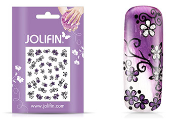 Jolifin Girlie Glitter Nailart Sticker 7