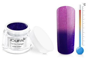 Jolifin Thermo Farbgel 4plus violet glitter 5ml