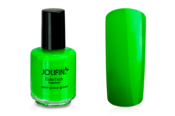 Jolifin ColorTech Nagellack Neon grass-green 14ml