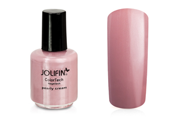 Jolifin ColorTech Nagellack pearly cream 14ml
