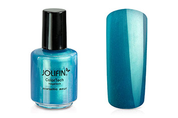 Jolifin ColorTech Nagellack metallic azur 14ml
