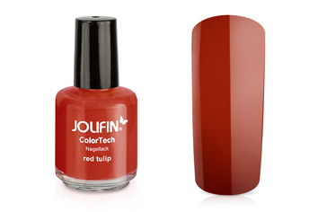 Jolifin ColorTech Nagellack red tulip 14ml
