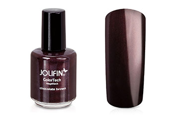 Jolifin ColorTech Nagellack chocolate brown 14ml