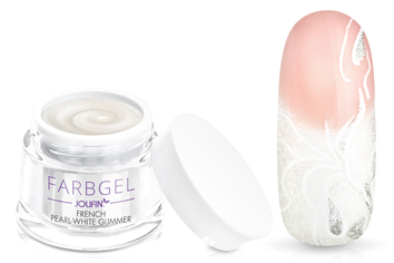 Jolifin Farbgel French pearl-white Glimmer 5ml