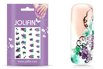 Jolifin Glitter Nailart Sticker 3