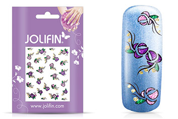 Jolifin Glitter Nailart Sticker 12