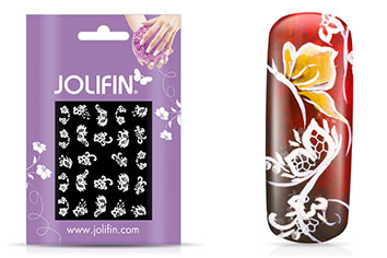 Jolifin Sparkling Crystal Nail-Sticker 15