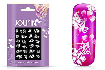 Jolifin Sparkling Crystal Nail-Sticker 16