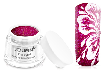 Jolifin Farbgel 4plus diamond pink celebration 5ml