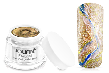 Jolifin Farbgel 4plus diamond golden river 5ml