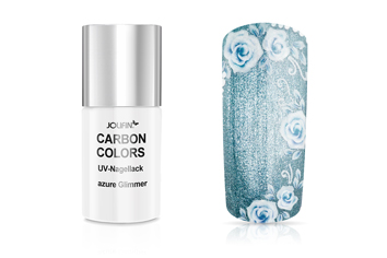 Jolifin Carbon Colors UV-Nagellack azure Glimmer 11ml