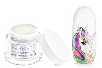 Jolifin Farbgel white rainbow Glitter 5ml