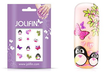 Jolifin Glitter Nailart Sticker 28