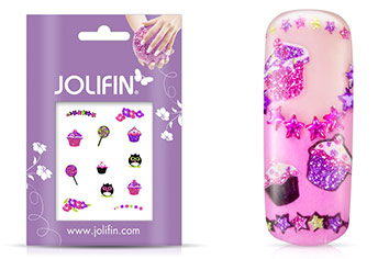 Jolifin Glitter Nailart Sticker 29