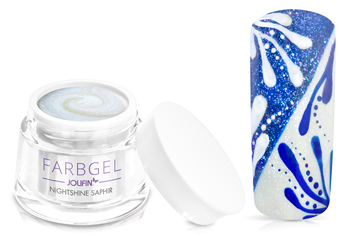 Jolifin Farbgel Nightshine saphir 5ml