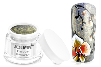Jolifin Farbgel Blue Stardust 5ml