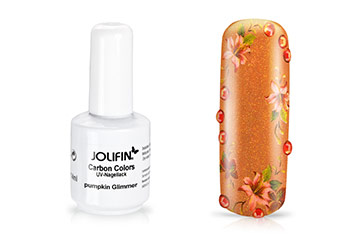 Jolifin Carbon Colors UV-Nagellack pumpkin Glimmer 11ml