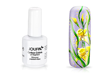 Jolifin Carbon Quick-Farbgel - Glimmer pastell-lilac 14ml