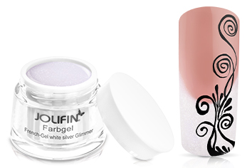 Jolifin Farbgel French-Gel white silver Glimmer 5ml