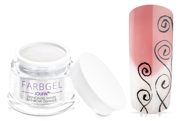 Jolifin Farbgel French-Gel white rainbow Glimmer 5ml