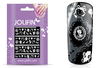 Jolifin White Romance Sticker 37