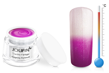 Jolifin Thermo Farbgel 4plus magenta Perlmutt 5ml