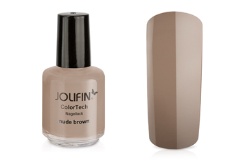 Jolifin ColorTech Nagellack nude brown 14ml