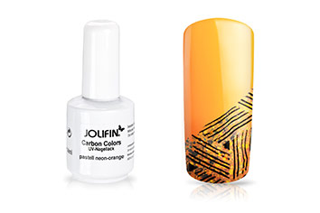 Jolifin Carbon Colors UV-Nagellack pastell neon-orange 14ml