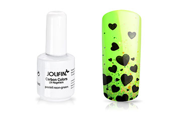 Jolifin Carbon Colors UV-Nagellack pastell neon-green 11ml