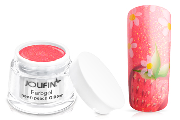 Jolifin Farbgel neon peach Glitter 5ml