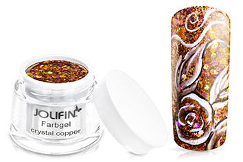 Jolifin Farbgel crystal copper 5ml