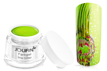 Jolifin Farbgel lime Glitter 5ml