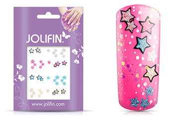 Jolifin Glitter Nailart Sticker 45