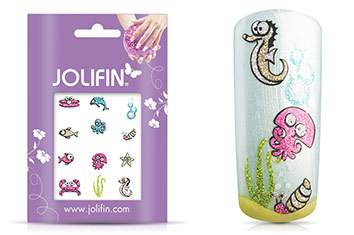 Jolifin Glitter Nailart Sticker 50